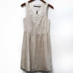 Kensie Natural Linen Dress Small NWT